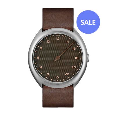 slow O 08 - 24 hour watch - Silver, Brown - sale