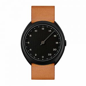 slow O 11 - Swiss one-hand wrist watch - Black, Brown